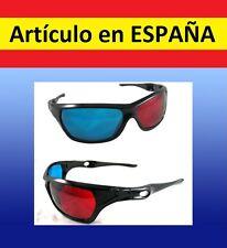 cda7cd0bed Gafas 3D de alta calidad ROJO AZUL peliculas bluray plastico estereo juegos  ojos