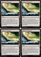 4x BLIGHTED WOODLAND Battle for Zendikar MTG Land Unc