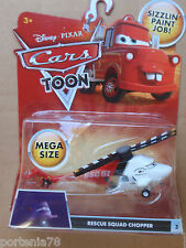 Disney Cars Toon Mega Size #3 RESCUE SQUAD CHOPPER