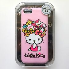 For iPhone 5C - Hard Plastic Fitted Skin Case Cover Pink Cute Hello Kitty Bows
