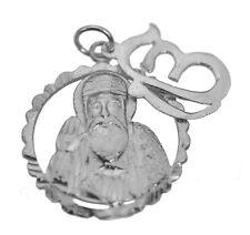 Guru Nanak Dev Ji With Ek Onkar Sterling Silver Sikh Charm 2 Pieces Jewelry New