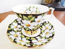 Royal Albert Vintage Provincial Flowers DOGWOOD Teacup Cup Saucer Set NICE!