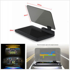 "Black 6""Screen Vehicle HUD Head Up Display Projector Phone Navigation GPS Holder"