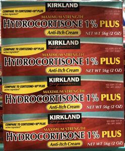 4 Tubes 2oz each. Kirkland Hydrocortisone 1% PLUS Anti-Itch Cream. Cortizone 10