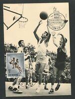 SAN MARINO MK 1964 OLYMPIA OLYMPICS BASKETBALL CARTE MAXIMUM CARD MC CM d8498