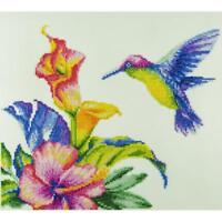 LEISURE ARTS Diamond Dotz Art Embroidery Painting Kit HUMMINGBIRD