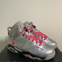 Jordan 6 Retro OG Valentine's Day Women's Size 6.5 Silver Pink Last Dance READ