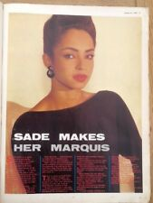 SADE 'makes her marquis' magazine PHOTO/Poster/clipping 11x8 inches