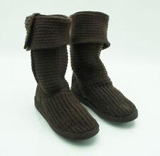 UGG s Strick Wolle Fell Stiefel Stiefeletten Boots Strickschaft braun Gr. 39