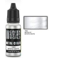 Metallic Paint MYSTIC WHITE 17ml - acrylic brush airbrush modelling hobby