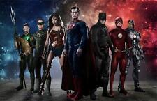 "2017 Batman Super man The FLASH Justice League movie Poster JLea-J020 36x24"""