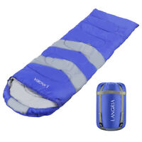 Langria 3 Seasons Sleeping Bag With 2 Way Zipper Compression Bag, Zip Together