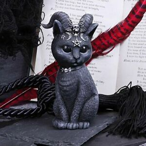 Nemesis Now  PAWZUPH  Horned Occult Cat  Pagan Witch Gothic Witchcraft Vamp