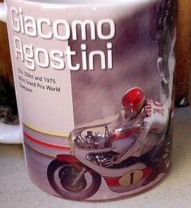 GIACOMO AGOSTINI tribute 50 years biography GP500 Moto GP  Limited Edition MUG