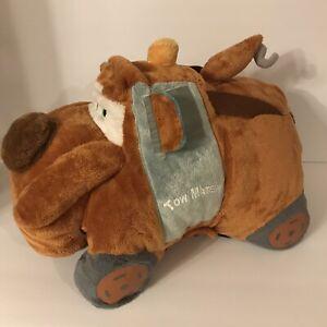 Disney Pixar Cars Tow Mater Pillow Pet Brown Grey With Tow Hook Smiling