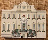 Vintage Historic Swan House Wood House Model Atlanta Georgia Christmas Garland