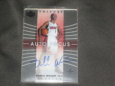 DORELL WRIGHT HEAT AUTHENTIC SIGNED AUTOGRAPHED PACK PULLED BASKETBALL CARD