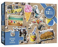 Gibsons - 12 PIECE PIECING TOGETHER JIGSAW PUZZLE - The Seaside