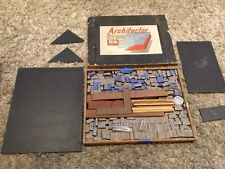 Vintage Children's Rare ARCHITECTOR MODEL BUILDING SET House & Gardens 1944 WWII