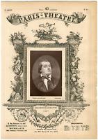 Lemercier, Paris-Théâtre, Antoine Louis Prosper Lemaître dit Frédérick Lemaître