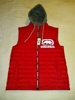 NEW NWT Ecko UNLTD Rhino Men's Medium Hooded Puffer Vest Red