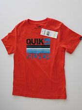 Quiksilver Little Boys 4 Short Sleeve Orange Living Proof Tee T-Shirt Cotton