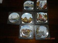 Louis Dali D'Arceau Limoges Plates - Set of 7 With Boxes - Euc
