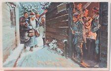 29778 AK feldgrauer Weihnachtsmann im Schützengraben bei den Soldaten 1. WK