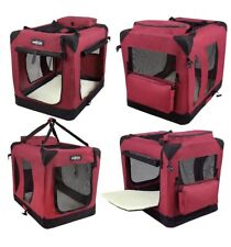 EliteField 3-door Soft Folding Dog Crate + FREE Crate Mat & Carrying Bag Xs New