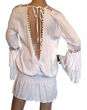 Markenlose hüftlange Damenblusen, - tops & -shirts mit V-Ausschnitt ohne Muster