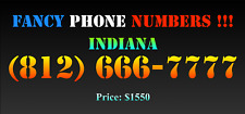 New listing Fancy Phone Numbers ! Indiana (812) 666-7777