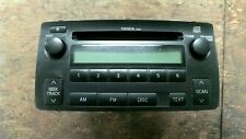 FACTORY CD RADIO TOYOTA COROLLA (ALSO SEE FX 87-88) 04 05 06 07 08