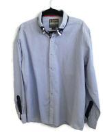 "Joe Browns Mens Size XL Blue White Stripe Long Sleeve Shirt Smart Casual 46"""