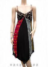 Robe DERHY T 40 L 3 Tunique Voile géométrique doublé Fête Tunic Dress TBE été