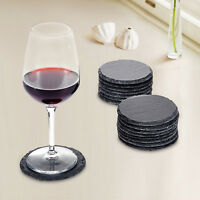 10cm Round Natural Slate Coasters Drinks Table Mat Wedding Engraving Wholesale
