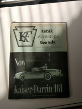 Antique Kaiser Darrin 161 Quarterly Frazer Fall and Winter Issue Vol 2 Number 1