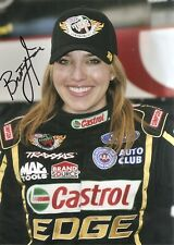 Brittany Force Hood NHRA FUNNY CAR 5x7 Photo Signed Auto