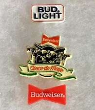 Vintage Budweiser Lapel Pin Lot Bud Light Pinback Red Bow tie Beer Company A468