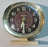 Westclox Baby Ben Wind Up Alarm Clock for Parts or Repair Cream Gold Glow Face