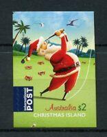 Christmas Isl Australia 2017 MNH Christmas Santa Claus Golf 1v S/A Set Stamps