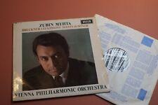 SXL 6202 Bruckner Symphony No.9 Zubin Mehta VPO DECCA UK STEREOLP