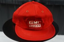Rare Vintage GMC Trucks Patch General Motors Car Snapback Hat Cap 80s 90s Red