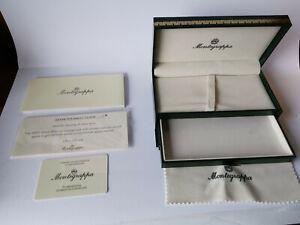 Vintage Authentic Montegrappa 1912 Empty Pen Box Case with Warranty