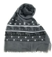 Casaba Womens Indian Elegant Design Textured Wide Scarves Scarf Shawl Light Wrap