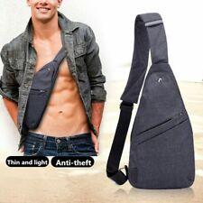 Hombre Casual anti Theft Sling Bag Estudiante Viaje Bandolera Hombro Pecho Pack