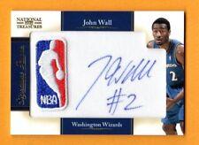 JOHN WALL 2010-11 NATIONAL TREASURES AUTOGRAPH NBA LOGOMAN PATCH AUTO RC # / 10