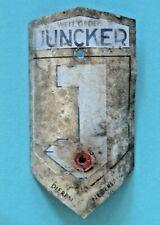 Juncker - Dieren - Vintage Metal Bicycle Head Tube Badge - Dutch