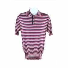 Vivienne Westwood Red Striped Short Sleeve Top Size L Rrp319 D167
