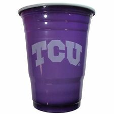 TCU Horned Frogs 18 Count 18 Oz Disposable Plastic Game Day Cups NCAA Licensed