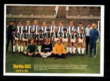 Hertha BSC Berlin  Mannschaftskarte 1971-72 TOP